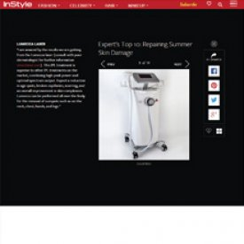 Lumecca Laser featured on Instyle.com as one of top 10 treatments for repairing summer skin damage