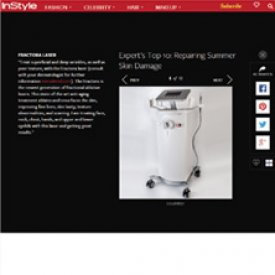 Fractora Laser featured on Instyle.com as one of the top 10 treatments for repairing summer skin damage